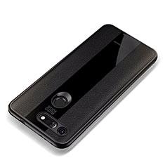 Coque Silicone Gel Motif Cuir Housse Etui pour Huawei Honor View 20 Noir