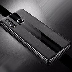 Coque Silicone Gel Motif Cuir Housse Etui pour Huawei Nova 4e Noir