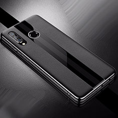Coque Silicone Gel Motif Cuir Housse Etui pour Huawei P30 Lite Noir