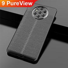 Coque Silicone Gel Motif Cuir Housse Etui pour Nokia 9 PureView Noir