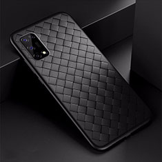 Coque Silicone Gel Motif Cuir Housse Etui pour Oppo K7x 5G Noir