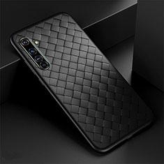 Coque Silicone Gel Motif Cuir Housse Etui pour Realme X50 Pro 5G Noir