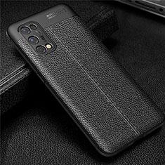 Coque Silicone Gel Motif Cuir Housse Etui pour Realme X7 Pro 5G Noir