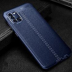 Coque Silicone Gel Motif Cuir Housse Etui pour Samsung Galaxy A31 Bleu