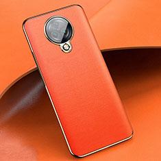 Coque Silicone Gel Motif Cuir Housse Etui pour Vivo Nex 3S Orange