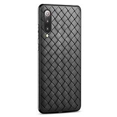 Coque Silicone Gel Motif Cuir Housse Etui pour Xiaomi Mi 9 Pro Noir
