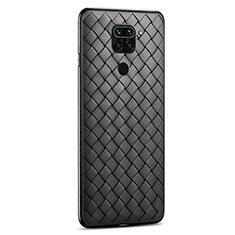 Coque Silicone Gel Motif Cuir Housse Etui pour Xiaomi Redmi 10X 4G Noir