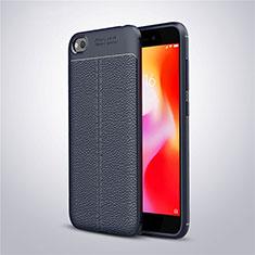 Coque Silicone Gel Motif Cuir Housse Etui pour Xiaomi Redmi Go Bleu