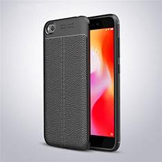 Coque Silicone Gel Motif Cuir Housse Etui pour Xiaomi Redmi Go Noir