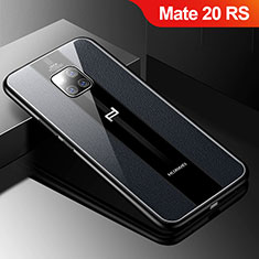 Coque Silicone Gel Motif Cuir Housse Etui S01 pour Huawei Mate 20 RS Noir