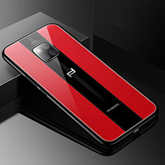 Coque Silicone Gel Motif Cuir Housse Etui S01 pour Huawei Mate 20 RS Rouge