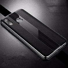 Coque Silicone Gel Motif Cuir Housse Etui S01 pour Huawei P Smart+ Plus Noir