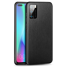 Coque Silicone Gel Motif Cuir Housse Etui S01 pour Huawei P40 Noir