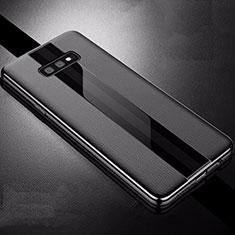 Coque Silicone Gel Motif Cuir Housse Etui S02 pour Samsung Galaxy S10e Noir