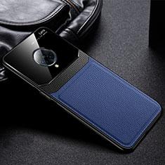 Coque Silicone Gel Motif Cuir Housse Etui S02 pour Vivo Nex 3 5G Bleu