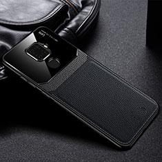 Coque Silicone Gel Motif Cuir Housse Etui S03 pour Huawei Mate 30 Lite Noir