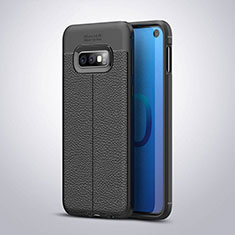 Coque Silicone Gel Motif Cuir Housse Etui S03 pour Samsung Galaxy S10e Noir
