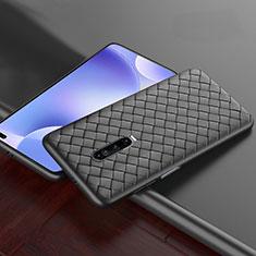 Coque Silicone Gel Motif Cuir Housse Etui S03 pour Xiaomi Poco X2 Noir