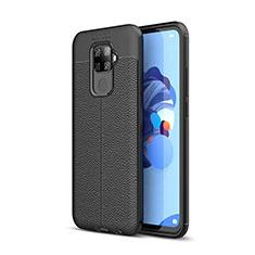 Coque Silicone Gel Motif Cuir Housse Etui S05 pour Huawei Mate 30 Lite Noir