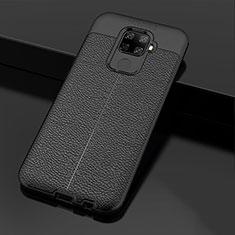 Coque Silicone Gel Motif Cuir Housse Etui Z01 pour Huawei Mate 30 Lite Noir