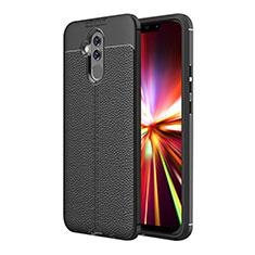 Coque Silicone Gel Motif Cuir Q01 pour Huawei Maimang 7 Noir