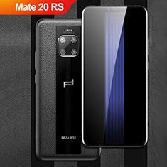 Coque Silicone Gel Motif Cuir Q01 pour Huawei Mate 20 RS Noir