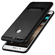 Coque Silicone Gel Serge avec Support pour Huawei Honor V9 Noir