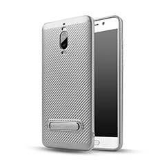 Coque Silicone Gel Serge avec Support pour Huawei Mate 9 Pro Argent