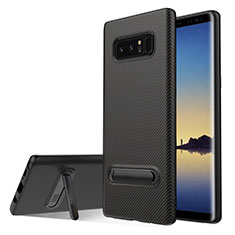 Coque Silicone Gel Serge avec Support pour Samsung Galaxy Note 8 Duos N950F Noir