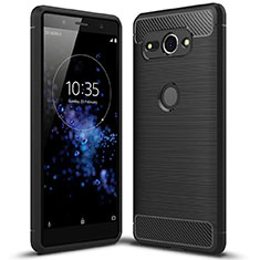 Coque Silicone Gel Serge avec Support pour Sony Xperia XZ2 Compact Noir