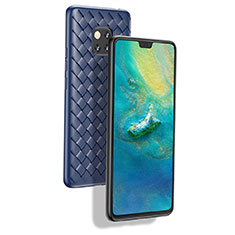 Coque Silicone Gel Serge B02 pour Huawei Mate 20 Pro Bleu