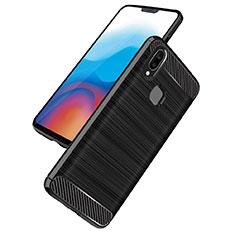 Coque Silicone Gel Serge B02 pour Samsung Galaxy A8 Star Noir