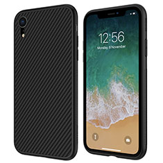 Coque Silicone Gel Serge pour Apple iPhone XR Noir