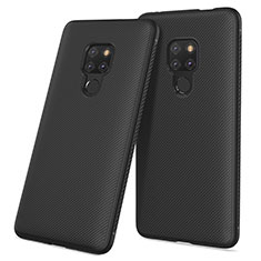 Coque Silicone Gel Serge pour Huawei Mate 20 Noir