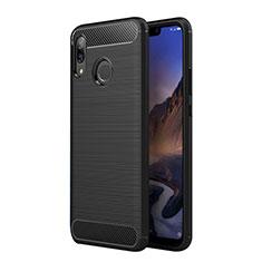 Coque Silicone Gel Serge pour Huawei P Smart+ Plus Noir
