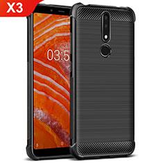 Coque Silicone Gel Serge pour Nokia X3 Noir