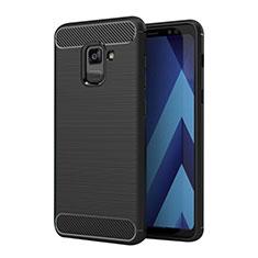 Coque Silicone Gel Serge pour Samsung Galaxy A5 (2018) A530F Noir