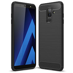 Coque Silicone Gel Serge pour Samsung Galaxy A9 Star Lite Noir