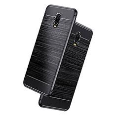 Coque Silicone Gel Serge pour Samsung Galaxy C7 (2017) Noir