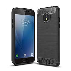 Coque Silicone Gel Serge pour Samsung Galaxy J2 Pro (2018) J250F Noir