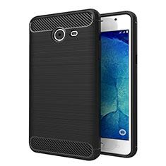 Coque Silicone Gel Serge pour Samsung Galaxy J5 (2017) Version Americaine Noir