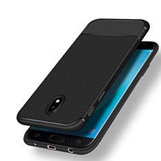Coque Silicone Gel Serge pour Samsung Galaxy J7 (2017) Duos J730F Noir