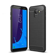 Coque Silicone Gel Serge pour Samsung Galaxy On6 (2018) J600F J600G Noir