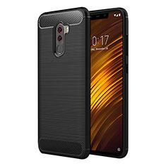 Coque Silicone Gel Serge pour Xiaomi Pocophone F1 Noir