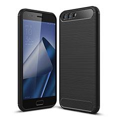 Coque Silicone Gel Souple Couleur Unie pour Asus Zenfone 4 ZE554KL Noir