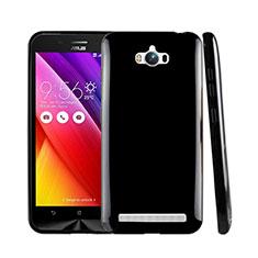 Coque Silicone Gel Souple Couleur Unie pour Asus Zenfone Max ZC550KL Noir
