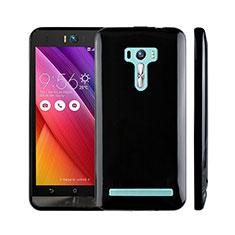 Coque Silicone Gel Souple Couleur Unie pour Asus Zenfone Selfie ZD551KL Noir