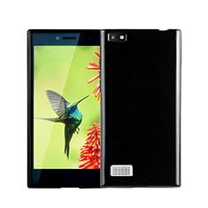 Coque Silicone Gel Souple Couleur Unie pour Blackberry Leap Noir