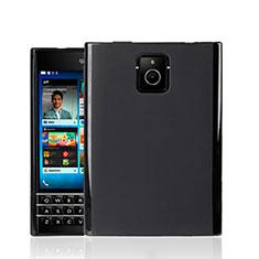 Coque Silicone Gel Souple Couleur Unie pour Blackberry Passport Q30 Noir