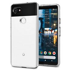 Coque Silicone Gel Souple Couleur Unie pour Google Pixel 2 XL Blanc